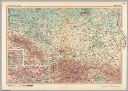 Poland - South.  Pergamon World Atlas.