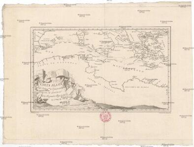 Carta plana desde Cartag.na á Constantinopla, con los derroteros de la esquadra Espanola en 1784, y 85