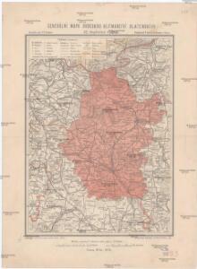 Generální mapa okresního hejtmanství Blatenského