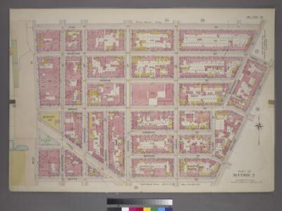 Plate 21, Part of Section 2: [Bounded by King Street, Macdougal Street, Watts Street and West Street.]