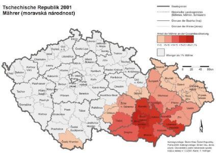 Tschechische Republik 2001. Mährer (moravská národnost)