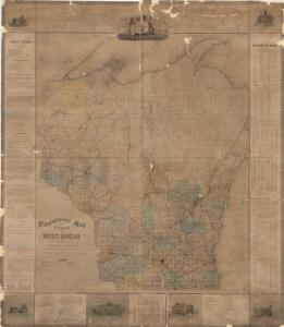 Educational map of the state of Wisconsin