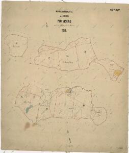 Hospodářská mapa revíru Pořejov