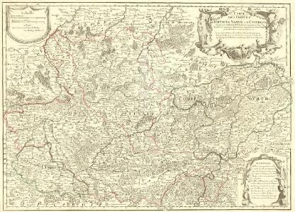 Carte des Comtéz de Hainaut de Namur et de Cambresis