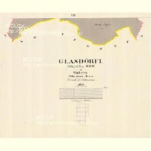 Glasdörf (Sklena Wes) - m2733-1-009 - Kaiserpflichtexemplar der Landkarten des stabilen Katasters
