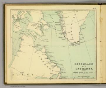Greenland, Labrador.