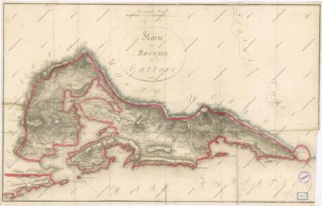 Karte der Bocche di Cattaro