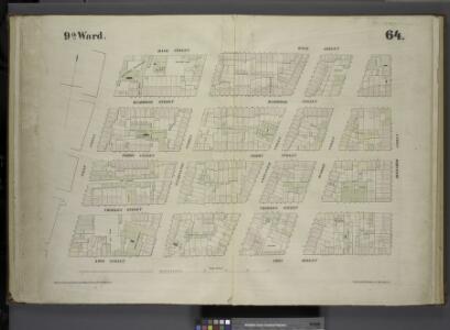 [Plate 64: Map bounded by Bank Street, Bleecker Street, Amos Street, West Street.]
