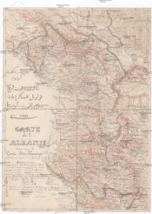 Carte de l' Albanie