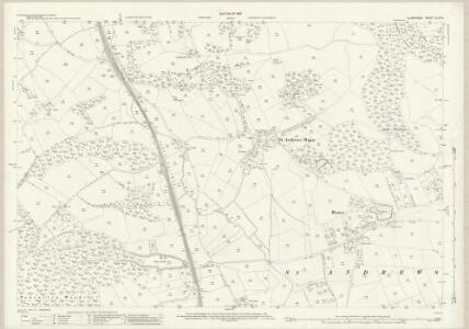Glamorgan XLVII.9 (includes: Michaelston Le Pit; St and rews Major; Wenvoe) - 25 Inch Map