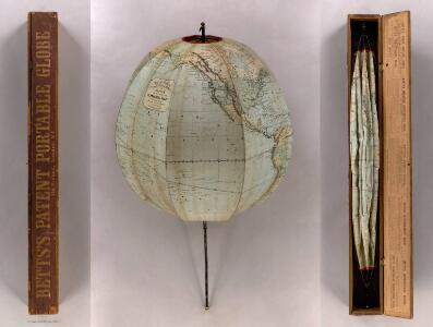 Betts's New Portable Terrestrial Globe.