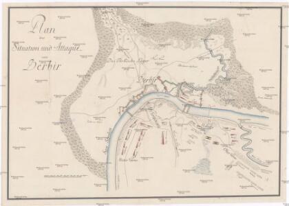 Plan der Situation und Attaque von Berbir