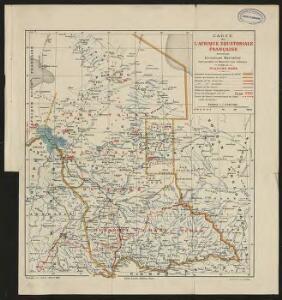 Carte de l'Afrique équatoriale française. Planche nord