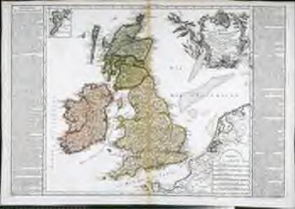Carte des isles Britanniques, comprenent les trois royaumes d'Angleterre et d'Ecosse dans la Grande Bretagne, d'Irlande