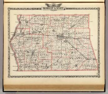 Map of Morgan & Scott counties.