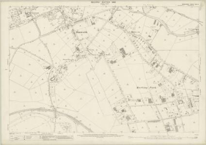 Middlesex XXV.2 (includes: Hanworth; Sunbury; Twickenham St Mary The Virgin) - 25 Inch Map