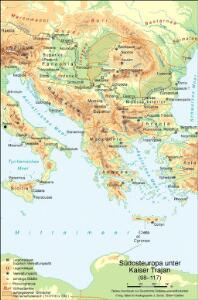 Südosteuropa unter Kaiser Trajan (98-117)