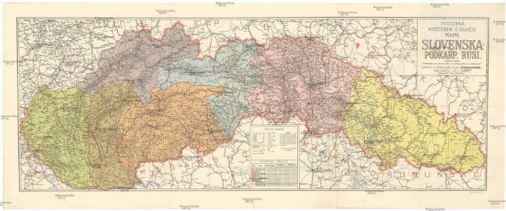 Podrobna Mistopisna A Silnicni Mapa Slovenska A Podkarp Rusi