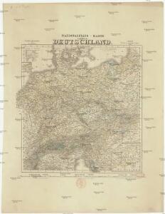 Nationalitäts-Karte von Deutschland