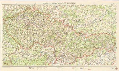 Automapa Československé republiky