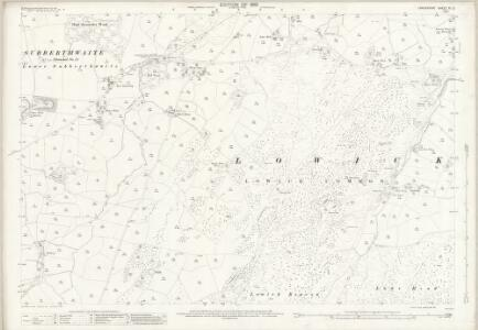 Lancashire XI.3 (includes: Colton; Egton With Newland; Lowick; Subberthwaite) - 25 Inch Map