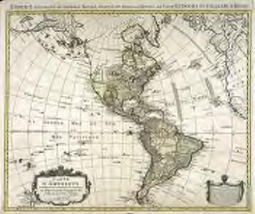 Carte d'Amerique divisées en ses principales parties