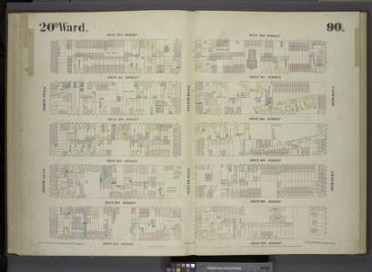 [Plate 90: Map bounded by West 32nd Street, Sixth Avenue, West 27th Street, Eighth Avenue.]
