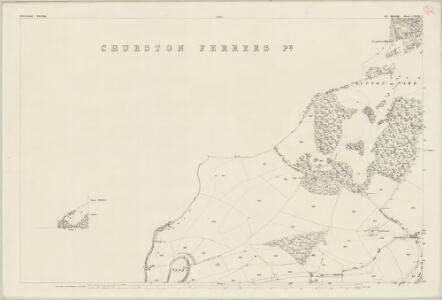 Devon CXXVIII.5 & 1 (includes: Brixham; Churston Ferrers; Stoke Gabriel) - 25 Inch Map