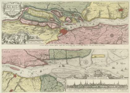 Nobilissimi Albis Fluvii Ostia, nec non Hamburgense et alia Territoria adjacentia