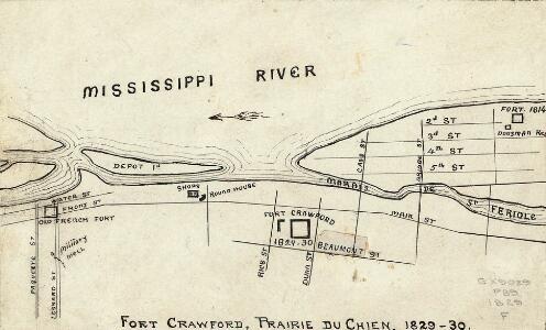 Fort Crawford, Prairie du Chien, 1829-30.