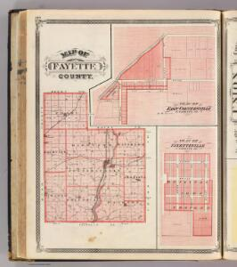 Map of Fayette County (with) East Connersville, Fayetteville.