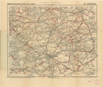 Deutsche Strassenprofilkarte für Rad - und Autofahrer 58 Nürnberg