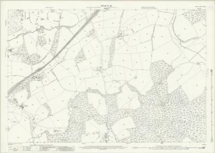 Surrey XXXIII.16 (includes: Capel; Holmwood; Newdigate) - 25 Inch Map