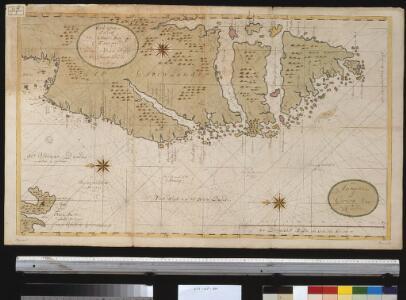 Oud Groenland van Staaten Hoek of C. Farawel tot de Visch Baij of Straet Davids int groot