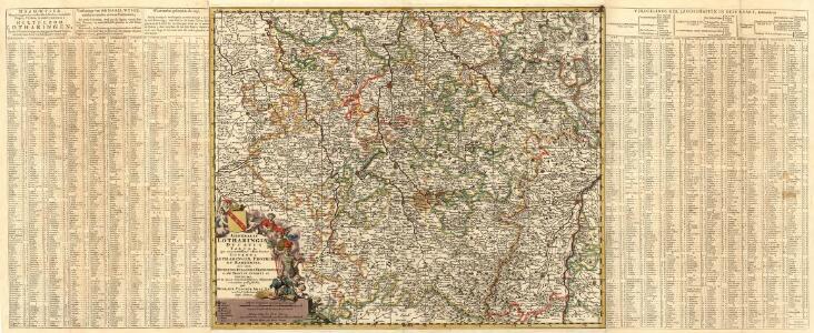Generalis Lotharingiae Ducatus Tabula