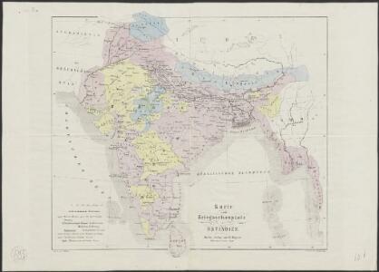 Karte vom Kriegsschauplatz in Ostindien