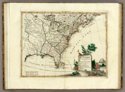 Canada, Le Colonie Inglesi Con La Luigiana, e Florida.