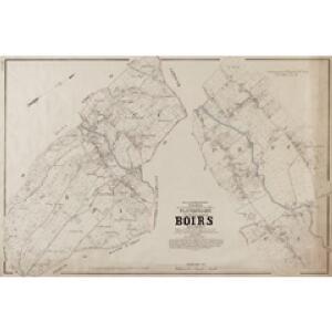 Plan parcellaire de la commune de Boirs : avec les mutations