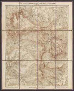 Karte des Schlern und der Rosengartengruppe
