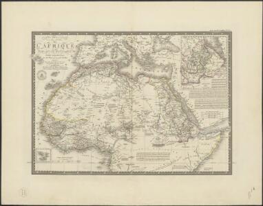 Carte détaillée (en deux feuilles) de l'Afrique et des îles qui en dépendent (partie septentrionale)