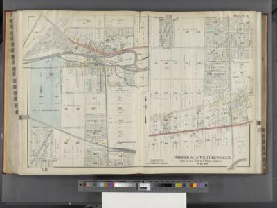 Buffalo, V. 3, Double Page Plate No. 18 [Map bounded by North Ave., Whitewood St., Berner St., Seneca St., Midvale St., Yards Ave.] / engraved by Albert Volk.