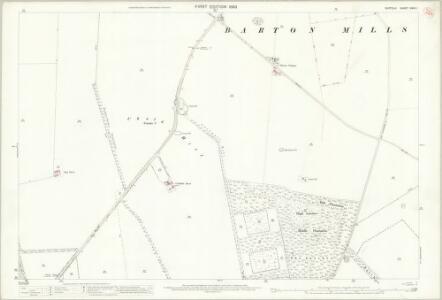 Suffolk XXXII.1 (includes: Barton Mills; Worlington) - 25 Inch Map