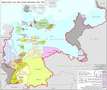 Deutschland nach dem Ersten Weltkrieg Ende 1921