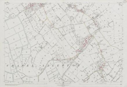 Somerset XXVI.11 (includes: Badgworth; Chapel Allerton; Weare; Wedmore) - 25 Inch Map