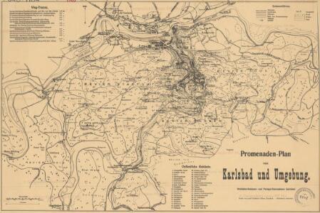 Promenaden-Plan von Karlsbad und Umgebung
