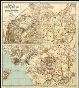 Map of the south-western part of Cameroon (containing the Basel Mission area)