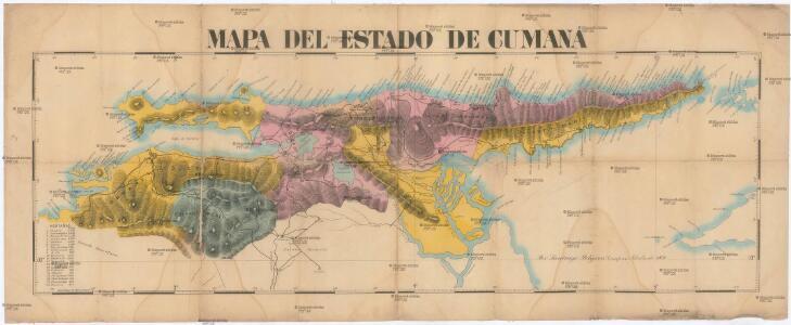Mapa del Estado de Cumana