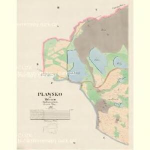 Plawsko - c5821-1-003 - Kaiserpflichtexemplar der Landkarten des stabilen Katasters
