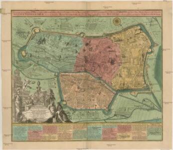 Accurata recens delineata Ichnographia celeberrimae liberae Imperii Civitatis ac Sveviae Metropolis AUGUSTAE VINDELICORUM