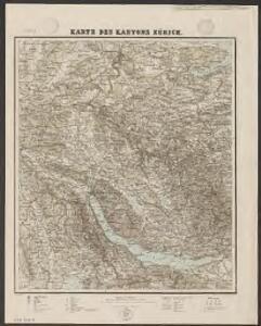 Karte des Kantons Zürich